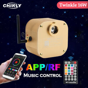 Twinkle Fiber Optic Light Bluetooth Control Engine 16W RGBW LED Ceiling Lighting