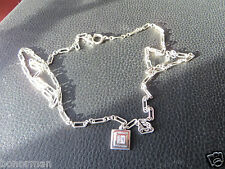 "Lauren Ralph Lauren 925 Sterling  Crystal Links Long  Necklace 32"" inches"
