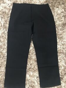 Women's Trousers size 14 Black Workwear Straight Leg