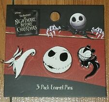 Disney The Nightmare Before Christmas NBC 3 Pin Set Loungefly New on Card