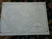 "Huge city map of Phillipsburg, New Jersey (1970) 38""x 28"""