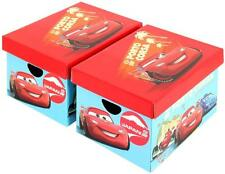 Disney Pixar Cars 2 Large Cardboard Storage Boxes Two Colour Cars Gift Boxes