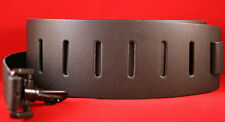 "New York Pro, Black Leather 2 1/2"" Wide Banjo Strap New!"