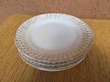 Thomas Sevres Bavaria Plates Early 1900s Marking White Porcelain Gold Leaf