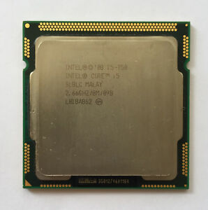 Intel Core i5-750 CPU 2.66 GHz 8M Cache Processor Lynnfield Socket 1156 SLBLC