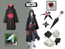 Complete set Of Naruto Akatsuki cloak Uchiha Itachi Cosplay Costume
