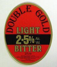 Geelong Brewing Co. DOUBLE GOLD LIGHT BITTER beer label AUSTRALIA 375ml