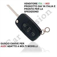 COVER CHIAVE GUSCIO AUDI A2 A3 A4 A6 A8 TT 3 TASTI SCOCCA TELECOMANDO key shell