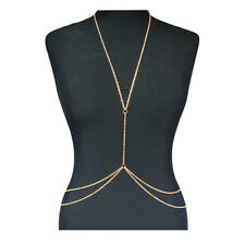 Fashion Body Chain Harness Crossover Belly Waist Bikini Slave Necklace Beach