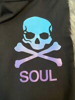 Lululemon 4 SoulCycle Skull Tight Mesh Legging Zipper Pocket Spin Yoga Run RARE