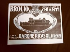Pubblicità dei 1932 Vino Chianti Brolio Casa vinicola Barone Ricasoli Firenze