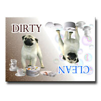 PUG Clean Dirty DISHWASHER MAGNET Fawn New DOG