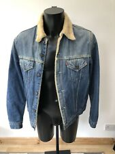 Levi Sherpa Denim Jacket 71500 04 Large Vintage