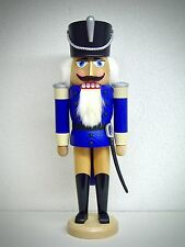 Casse-Noisette hussard avec finition bleu 28cm véritable Erzgebirge 15518