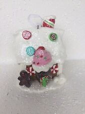 GINGERBREAD MAN HOUSE CLAY XMAS ORNAMENT DECOR ST. NORTH POLE TRADING PEPPERMINT