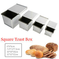 Toast Box Bread Loaf Pan Baking Mold With Lid Non-stick 450g-1000g Metal Mold