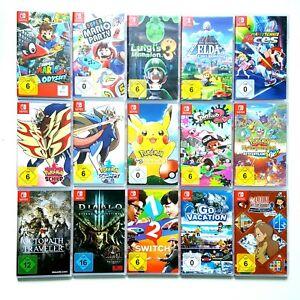 Nintendo Switch Spiele Zelda Mario Odyssey Pokemon Tetris Splatoon Harvest uvm.