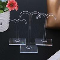 3pcs Transparent Jewelry Stand Holder Earring Necklace Display Organizer Rack