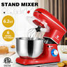 Pro Electric Food Stand Mixer 6.2 QT Tilt-Head 6 Speeds Stainless Steel Bowl Red