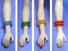 Barbie Dreamz BLUE GREEN GOLD & RED Bead Snake Bracelet LOT OOAK Doll Jewelry