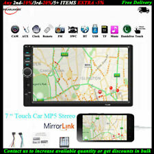 7'' 2 Din Car Radio Bluetooth Touch Screen Stereo MP5 Player TF AUX Mirror Link