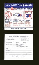 VINTAGE 1972 ICE CREAM POPSICLE AD ORDER FORM MINT CONDITION