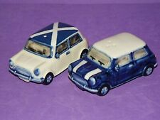 Collectable Ceramic Novelty Mini Cooper Cars Salt & Pepper Pots - Hand Painted
