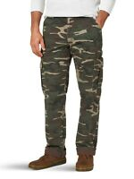 New Wrangler Men's Fleece Lined Cargo Winter Pants Khaki Men's Sizes Camo Color