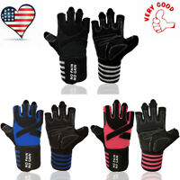 Weight Lifting Gloves For Men Women With Wrist Wrap Support Fitness Gym Workout
