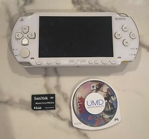 PSP-1000 White Tested Working Console + Game Region Free Japan Import US Seller