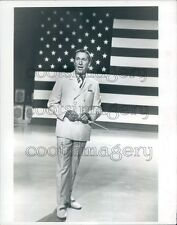 1970 Patriotic American TV Host Lawrence Welk Press Photo