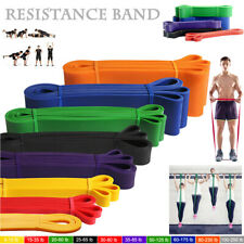 Heavy Duty Resistance Band Loop Set Gym Exercise Pull Up Fitness Workout Yoga