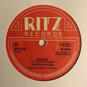 """Foster And Allen - """"Maggie""""  7"""" (1982) &  """"The Willow"""" / RITZ 025 /  LOG8"""