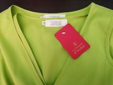 Women's green Sleeveless Blouse, with drawstring front detail