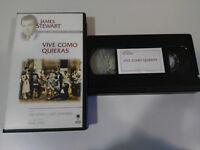 Vive as Store Whatever Frank Capra Jean Arthur James Stewart VHS Tape Spanish