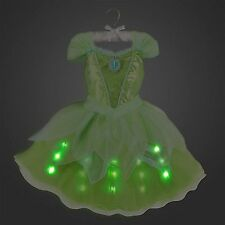 Disney Store Tinkerbell Fairy Princess Dress Costume Lights Up Halloween RETIRED