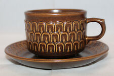 Wedgwood Pennine Brown Coffee Tea Mug Cup Saucer Set Made in England Vintage