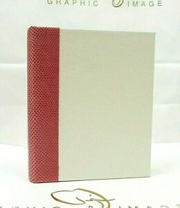 Graphic Image Photo Album Small 5x7 Ring Binder Clear Pockets Ivory Pink