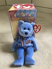 TY Beanie Baby 911 Bear Patriotic Flag 2001 - Boxed & New With Tags Retired Item