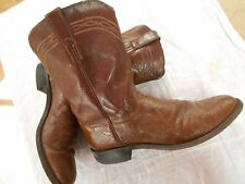 EXOTIC JUSTIN OSTRICH mens BROWN leather ROPER Cowboy Boots SZ 9 B