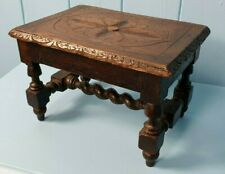STOOL FOOT STOOL TABLE CREEPIE VICTORIAN OAK ANTIQUE MINIATURE HEWSON MILNER