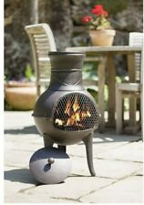 La Hacienda Clifton Chiminea Log Burner Chimney  Patio Heater Steel Fire Pit.