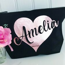 Personalised Make Up Bag for Mums, Girls, Ladies, Grandmas, Friends - ANY NAME