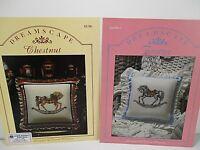 Wentzler Dreamscape Cross Stitch Pattern Chart Book Lot of 2 Carousel Horses