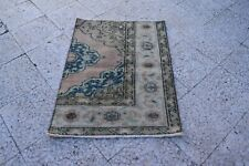 26'' X 35'' Old Traditional Turkish Carpet Oriental Hand Made Small Square Rug