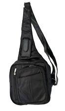 Brown Men's Leather Chest Sling Day Pack Shoulder Bag Sport Travel Backpack