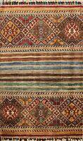 Tribal Super Kazak Geometric Oriental Area Rug Wool Handmade Kitchen Carpet 2x3