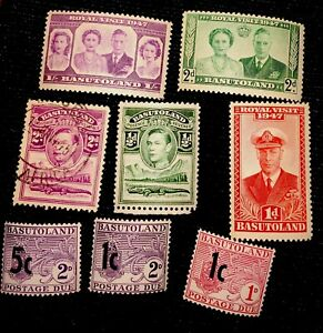 1947 Royal Visit Basutoland Stamps.  Postage Due Stamps