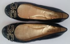 Coach Shoes 8B black patent leather slip-on ballet shoe with buckle $168