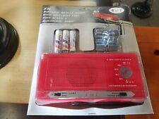 Vintage Free Air  FM portable bicycle bike radio spotlight horn red 368 1013389
